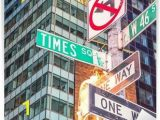 New York Times Square Wall Mural Image Of A Street Sign for Times Square New York Wall Mural