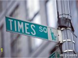 New York Times Square Wall Mural Image Of A Street Sign for Times Square New York Wall Mural Vinyl