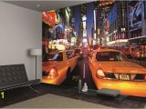 New York Times Square Wall Mural New York Times Square Taxi Fototapete