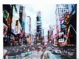 New York Times Square Wall Mural Times Square Glass Picture 90cm X 120cm