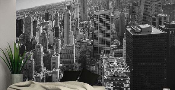 New York Wall Mural by Robert Harrison New York City Skyline Black White Wallpaper Wall Mural