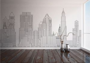 New York Wall Mural Wallpaper Manhattan Skyline New York City Nyc Custom Printed Wall