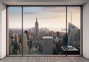 New York Wall Mural Wallpaper Vlies Fototapete Penthouse In New York