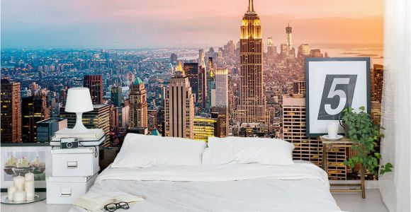 New York Wall Murals for Bedrooms New York Skyline Wall Mural Home Decor