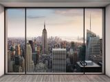 New York Window Wall Mural Vlies Fototapete Penthouse In New York