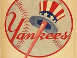 New York Yankee Wall Murals 1946 New York Yankees Print Vintage Baseball Poster