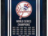 New York Yankees Wall Murals New York Yankees World Series Champions Framed Wall Art