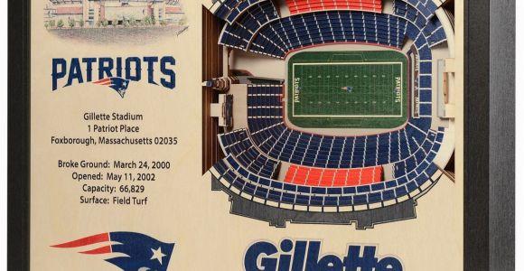 Nfl Stadium Wall Murals New England Patriots Wooden 25 Layer Stadiumview 3d Wall Art