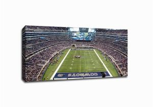 Nfl Stadium Wall Murals Shop Dallas Nfl 40×22 Gallery Wrapped Canvas Wall Art Free