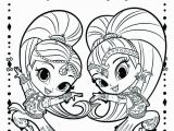 Nick Jr Shimmer and Shine Coloring Pages Shimmer and Shine Coloring Pages to Print Coloring Pages