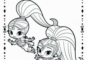 Nick Jr Shimmer and Shine Coloring Pages Shimmer Shine Nick Jr Coloring Sheet