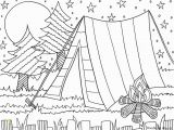 Night Sky Coloring Page Camping Coloring Page for the Kids