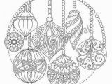 Night Sky Coloring Page Christmas Hanging ornaments Adult Coloring Page