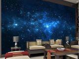 Night Sky Wall Mural Blue Galaxy Wall Mural Beautiful Nightsky Wallpaper