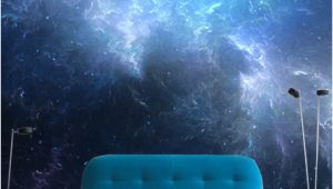 Night Sky Wall Mural Night Sky with Nebula Wall Mural