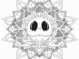 Nightmare before Christmas Adult Coloring Pages Jack Skellington Mandala M&alas Adult Coloring Pages