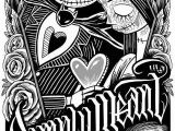 Nightmare before Christmas Adult Coloring Pages Nightmare before Christmas Jack and Sally Wallpaper