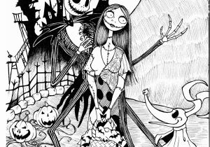 Nightmare before Christmas Characters Coloring Pages Free Printable Nightmare before Christmas Coloring Pages