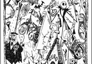 Nightmare before Christmas Characters Coloring Pages Nightmare before Christmas Coloring Page Coloring Home