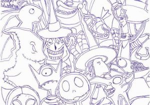 Nightmare before Christmas Characters Coloring Pages the Nightmare before Christmas by Radiant Sunset