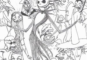 Nightmare before Christmas Characters Coloring Pages the Nightmare before Christmas Coloring Page