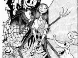 Nightmare before Christmas Coloring Pages Bezpłatne Miasteczko Halloween Halloween Kolorowania Stron
