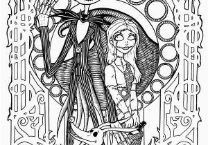 Nightmare before Christmas Printable Coloring Pages Jack and Sally Coloring Pages Awesome Coloring Pages Nightmare