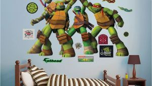 Ninja Turtle Wall Mural Teenage Mutant Ninja Turtles High Five Wall Decals by