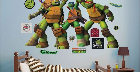 Ninja Turtle Wall Mural Teenage Mutant Ninja Turtles High Five Wall Decals by