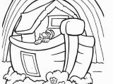 Noah S Ark and Rainbow Coloring Pages Noah