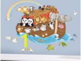 Noah S Ark Wall Mural Kit Animal Wall Decals Murals & Jungle Safari Wall Stickers