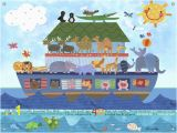 Noah S Ark Wall Mural Kit Noah S Ark Kids Mural by Oopsy Daisy