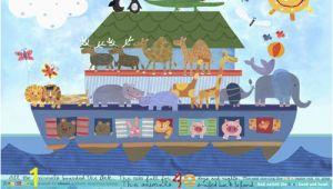 Noah S Ark Wall Mural Kit Noah S Ark Kids Mural by Oopsy Daisy