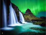 Northern Lights Wall Mural 3d Bedroom Wallpaper Waterfall Landscape Ocean Night northern Lights Cool Gorgeous Background Wall Decoration Mural Wallpaper Puter Wallpapers