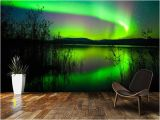 Northern Lights Wall Mural northern Lights Mirror