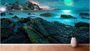 Northern Lights Wall Mural Wall Mural Photo Wallpaper Xxl northern Lights Aurora