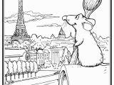 Notre Dame Coloring Pages Ratatouille S Remy In Paris Coloring Page