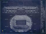 Notre Dame Stadium Wall Mural Football Stadium Blueprints Sportsbookservice03