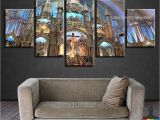 Notre Dame Wall Murals 5 Pieces Home Decor Canvas Print Wall Art Montreal Notre Dame