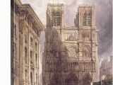 Notre Dame Wall Murals the Cathedral Of Notre Dame Paris 1836
