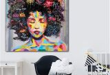 Nude Wall Murals Portrait Wall Art Abstract Nude American Women African Wall Art