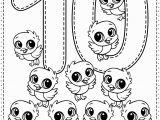 Number Coloring Worksheets for Kindergarten Number 10 Preschool Printables Free Worksheets and