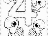 Number Coloring Worksheets for Kindergarten Number 4 Preschool Printables Free Worksheets and