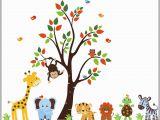 Nursery Jungle Wall Murals Nursery Wall Decals Jungle Wall Decals Zoo Animal Decals
