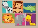 Nursery Jungle Wall Murals Safari Animal Wall Art Animal Nursery Decor Zoo Jungle