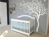 Nursery Room Wall Murals White Tree Wall Decal Huge Tree Wall Decal Wall Mural