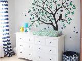 Nursery Tree Wall Mural Tree Wall Decals Baby Nursery Tree Wall Sticker with