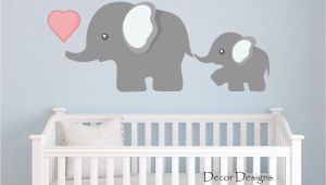 Nursery Wall Mural Decals Elephant Wall Decal by Decor Designs Decals Nursery Wall