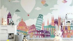 Nursery Wall Mural Ideas Kids Wallpaper Historical Places Wall Mural Hot Air Balloon