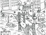 Nyc Coloring Pages for Kids Manhattan Bridge Coloring Page